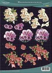 3D Knipvel Hobby Design 73085 Rozen ea boeketten