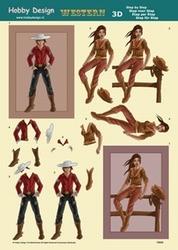 3D Knipvel Hobby Design 73043 Cowboy/cowgirl