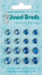LeCreaDesign Jewel brads 721420 dark blue/ light blue