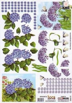 Olba 3D knipvel nr  1 bloemen en vlinders