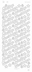 Kerststickervel Platinum CD3015 Prettige Feestdagen