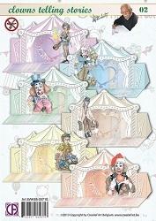 Creatief Art SWK85-0071 Staf Wesenbeek Clowns Telling Storie
