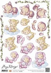 3D Knipvel Amy Design CD10283 Baby wolkjes