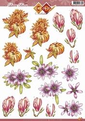 3D Knipvel Artiste Laura Broos CD10286 Bloemen en Pompoen