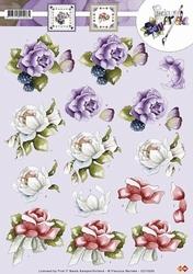 3D Knipvel Precious Marieke CD10289 Bloemen