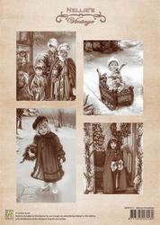 A4 Vel Nellie's Vintage Christmas Nevi011 Merry Christmas
