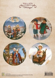 A4 Vel Nellie's Vintage Christmas Nevi014 colour Children