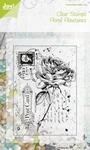 Joy Clear stamps 6410-0044 Floral Flourishes Old letter Rose