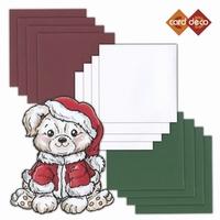 Kerstkaartenset - Dubbelgevouwen 4-kant kaartkarton