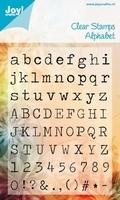 Joy Clear stamps 6410-0033 Alphabet