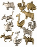 Scrapbook Fun bedels 1004 Boerderij dieren