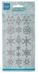MD Decoration Pearls CA3107 Snowflakes and trees