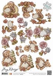 3D Knipvel Amy Design CD10301 Flowers