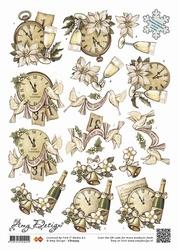 3D Knipvel Amy Design CD10303 Clocks and Bells