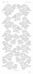 Kerststickervel Platinum CD3090 X-mas birds/Kerst vogels