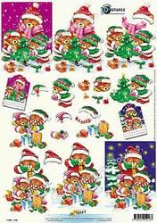 3D Kerstknipvel Universal Pictures 218 Kerstberen