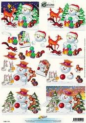 3D Kerstknipvel Universal Pictures 219 Sneeuwpop