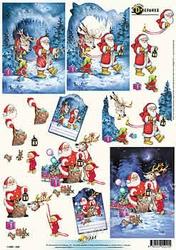 3D Kerstknipvel Universal Pictures 220 Kerstman met rendier