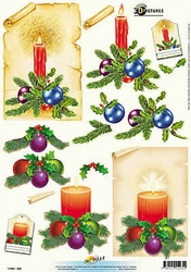 3D Kerstknipvel Universal Pictures 265 Kaars met kerstbol
