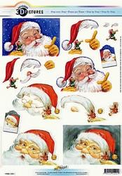 3D Kerstknipvel Universal Pictures 291 Kerstman