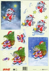 A4 Kerstknipvel Pickup 048 Kerst olifantje