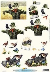 3D Knipvel Universal Pictures 242 Vogelverschikker
