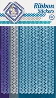 JeJe Ribbon stickers 3.9887 Stars donker blauw/zilver/goud