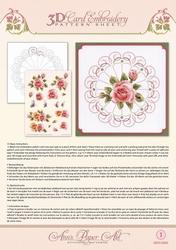 3D Borduur/knipvel Ann Paper Art 3001 Rose Glow
