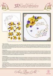 Ann's Paper Art 3D Borduurknipvel 3DCE2002 Yellow Rose