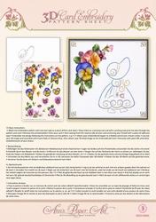 Ann's Paper Art 3D Borduurknipvel 3DCE2003 Summer Pansies