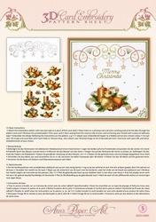 Ann's Paper Art 3D Borduurknipvel 3DCE2005 Holiday Decor