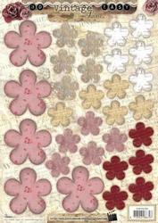 A4 Stansvel Studio Light 358 Vintage Bloemen rood/roze
