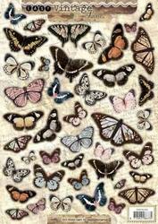 A4 Stansvel Studio Light 352 Vintage vlinders