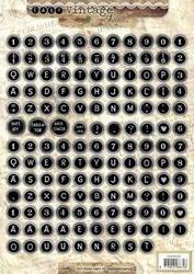 A4 Stansvel Studio Light EASYSL351 Vintage Alfabet