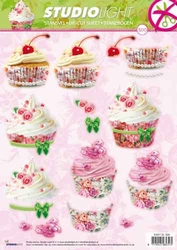 A4 Stansvel Studio Light 300 Cup Cakes