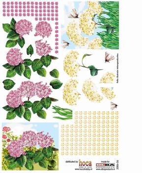 Olba 3D knipvel nr  6 bloemen en vlinders
