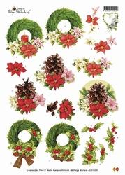 3D Kerstknipvel Helga Martare CD10291 Kerst