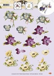 3D Knipvel Precious Marieke CD10293 Bloemen