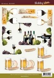 A4 Knipvel Hobbyidee hi00037 heren/drank