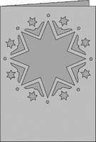 Romak Passe-Partout 352 A6 Romance Kerst sterren 23 rood