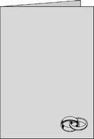 Romak Stanskaart 354 A6  foliedruk ringen goud 21 wit
