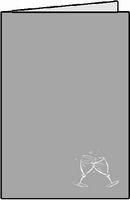 Romak Stanskaart 341 A6  foliedruk glazen zilver 22 ivoor