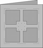Romak Trapeze kaart 348 4-kant Borduurkaart 21 wit