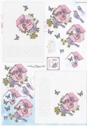 Ann's Paper Art 3D Stitching knipvel B027 Verhuis/woning