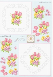 Ann's Paper Art 3D Stitching knipvel 80 Voorjaars bloemen