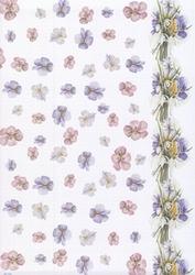 A4 Vellum MB7003 Mattie Paars & roze bloemen