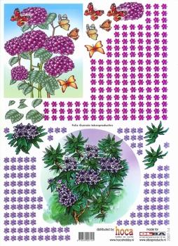 Olba 3D knipvel nr 14 bloemen/vlinders