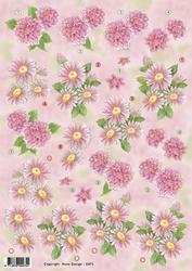 3D Knipvel Anne Design VBK 2475 Roze bloemen