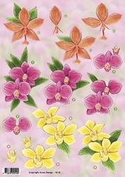 3D Knipvel Anne Design VBK 2510 Lelie/orchidee/narcis