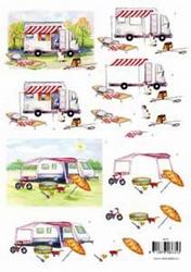3D Knipvel voorbeeldkaarten 8635 Mobielhome/caravan